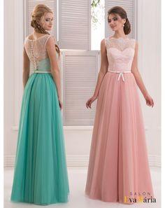 97de86a2c224 Luxusné spoločenské šaty s čipkovaným vrškom a jemnou tylovou sukňou  zdobené mašličkou Šaty Pre Družičky