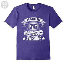 Mens 42nd Birthday Gift Ideas For Men/Women. Born In 1975 T-Shirt 2XL Purple - Birthday shirts (*Amazon Partner-Link)