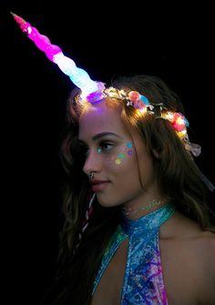 J Valentine Unicorn Queen Light-Up Flower Crown