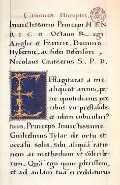 File:Hans Holbein d. J. - The initial E in the manuscript of Canones horoptri by Nikolaus Kratzer - WGA11624.jpg