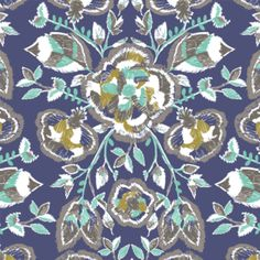 Hawthorne Threads - Forest Fables - Stitch Floral in Indigo
