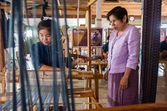 Pranom Tapang and Tin-Chok weaving in Phrae, Thailand