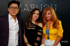 Marielle Byworth with Lewis Maxidus Chieng and Caroline Roberts for the boutique opening at #PMQ