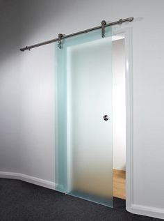 Modern Closet with frosted glass door