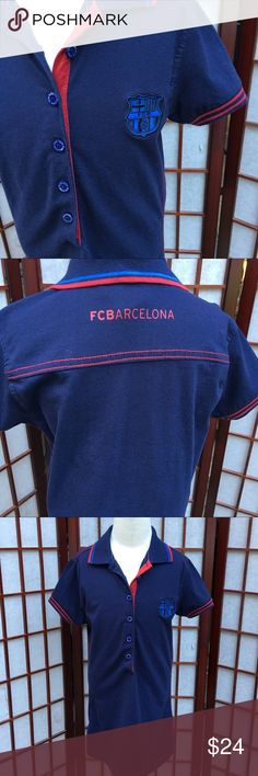 FCB Barcelona Soccer Team Child's Polo Dress SML Child's Barcelona's official soccer Team Polo Dress. Should fit 4/6 small child FCB Dresses Casual