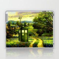 Tardis Stay Alone In The Grassland Laptop & iPad Skin by hairulhayana Laptop Shop, Tardis, Original Artwork, Ipad, Painting, Beautiful, Design, Painting Art