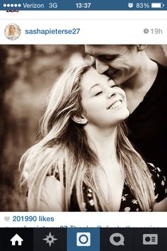 Beautiful engagement shot really shows the love. Sasha Pieterse and her beau ❤️