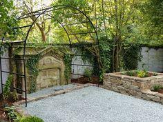 Metal garden arch / arbour from Harrod Horticulture #gardenarch #metalgardenarch #gardenfeatures #climbingplants