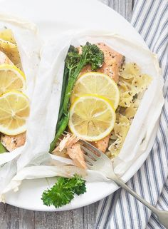 Rainbow Trout and Pasta in Parchment.
