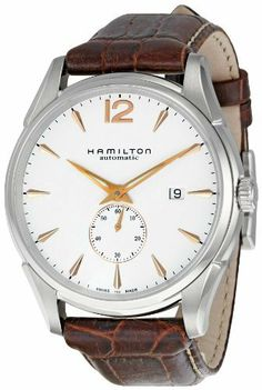 Hamilton Men's H38655515 Jazzmaster Slim White Dial Watch Hamilton. $800.00. Durable Sapphire Crystal protects watch from scratches. Swiss ETA 2892 automatic movement. Case diameter: 42.5 mm. Water-resistant to 165 feet (50 M). Stainless-Steel case. Save 22%!