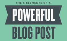 7 Infographics to Make You a Better Blogger | SEJ
