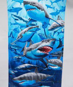 Love this Blue & Gray Shark Beach Towel by Island Gear on #zulily! #zulilyfinds
