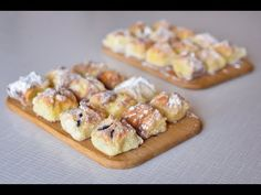 Křehké koláčky Lady Poukové - YouTube Czech Recipes, Ethnic Recipes, Desert Recipes, Graham Crackers, Doughnut, Sweet Recipes, Holiday Recipes, Sushi, Waffles
