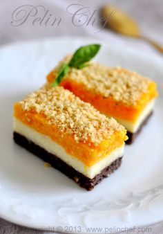 Easy Cake : Three colored semolina dessert with pumpkin, Dessert Parfait, Cake Recipes, Dessert Recipes, Dessert Simple, Good Food, Yummy Food, Köstliche Desserts, Turkish Recipes, Sweets