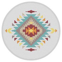 Modern cross stitch pattern Navajo cross stitch Indian by Xrestyk