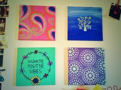 College DIY Canvas Crafts