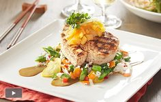 P.F. Chang's Summer Menu: Grilled Pineapple-Citrus Swordfish with Summer Rice