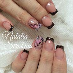 :-) Square Nail Designs, Nail Art Designs, Black Nail Art, Gelish Nails, Crazy Nails, Top Nail, Acrylic Nail Art, Square Nails, Easy Nail Art