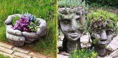 Cement Art, Cool Art, Awesome Art, Garden Sculpture, Concrete, Sculptures, Outdoor Decor, Projects, Inspiration