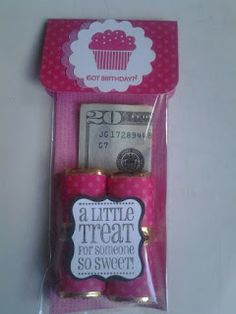 Great idea for the grandkids who are out of state. Easy to mail gift - money and chocolate