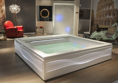 Seaside bathtub by Teuco complete with & panels Beach House Bathroom, Lighting System, Design Awards, Jacuzzi, Corner Bathtub, Seaside, Spring, Beach, Coast