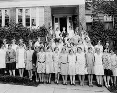 #throwbackthursday for Nurses Week! UHS nursing students in front of Johnson Hall #tbt