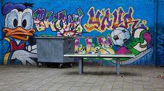 Graffiti De Weijert (NL) January 2013 art kunst streetart Groningen Grunn NL Nederland Donald Duck Photo by: Jascha Hoste
