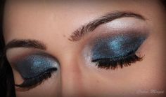 Shimmery smokey eyes