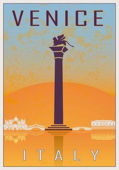 Vintage Italian Posters ~ #Italian #vintage #posters ~ Venice