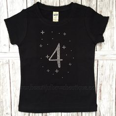 This listing is for the rhinestone shirt pictured in your choice of color and size with the rhinestone saying How perfect for a birthday party! 4th Birthday Parties, 3rd Birthday, Birthday Ideas, Rhinestone Shirts, Birthday Shirts, Trending Outfits, Unique Jewelry, Handmade Gifts, T Shirts For Women