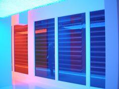 """luxori: """" Carlos Cruz-Díez 'Chromointerference Mécanique' 1966-2007, Instalación, Museo de Arte Contemporáneo Reina Sofía, Madrid by hanneorla on Flickr. """""""