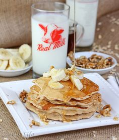 Oatmeal Pancakes with Milk
