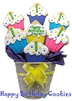 Happy-Birthday-Cupcake-Cookie-Bouquet-cupcakepedia 1024x1024, birthday cookies