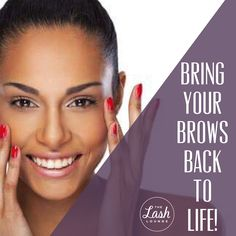 Bring your brows back to life with brow threading, tinting or microblading! Natural Looking Eyelash Extensions, Lash Lounge, Brow Threading, Permanent Makeup, Brows, Eyelashes, Bring It On, Life, Beautiful