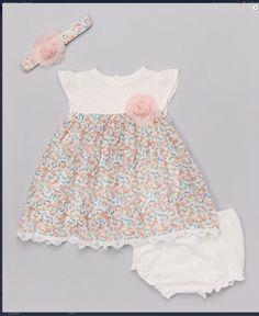 Tiny floral print baby dress