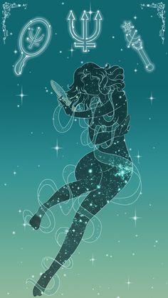 Sailor Neptune Lockscreen, Sarah Meadows on ArtStation at https://www.artstation.com/artwork/YEPrq