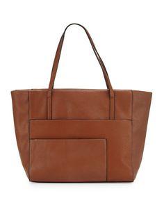 792c7310a8 V2RRA Neiman Marcus Misto Faux-Leather Shopper Tote Bag