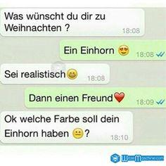 Lustige WhatsApp Bilder und Chat Fails 28 - Einhorn oder Freund - WitzeMaschine