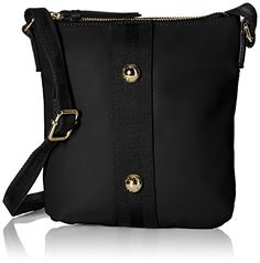 Women's Cross-Body Handbags - Tommy Hilfiger Jill Nylon Crossbody Bag Black One Size *** Learn more by visiting the image link.