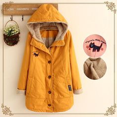 İçi Pamuklu Kapşonlu Ceket (J0018) #kapşonlu #pamuk #blazer #ceket…