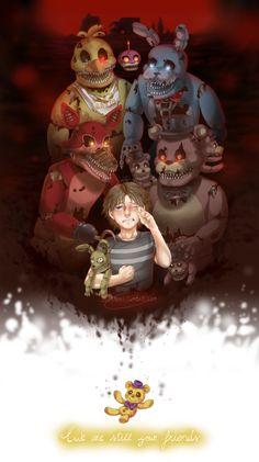FNAF 4 Nightmare Animatronics. We are still your friends