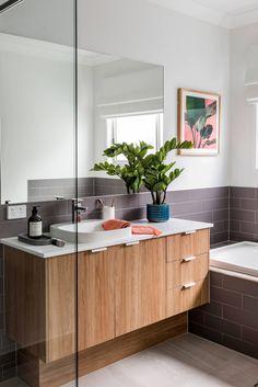 Beach bathroom design photo of a style 3 4 in gold coast tweed with ideas small bath remodel coa Beach Bathrooms, Ensuite Bathrooms, Diy Bathroom Remodel, Bath Remodel, Bathroom Ideas, Display Homes, Blue Mirrors, Bathroom Styling, Diy On A Budget