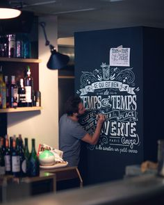 Wall Lettering @La Place Verte - Paris on Typography Served
