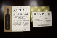 Wedding Invitation  Rustic Vineyard por seahorsebendpress en Etsy, $6.00