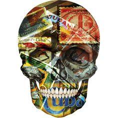 All Things Cuban; Skull Illustration.