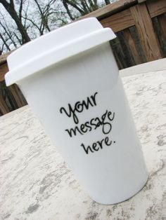 Custom travel mug. $19.95, via Etsy.