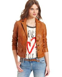 brown leather jackets for women lucky brand - Google Search