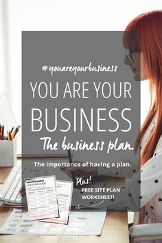You Are Your Business: The business plan. The importance of having a clear and concise plan of action for your online business. Plus FREE site plan worksheet. | Julie Harris Design