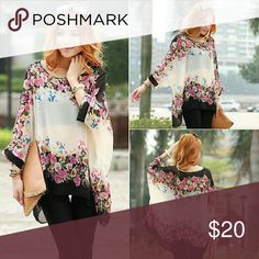 Batwing Flowy Floral Top Batwing Flowy Floral Top Other