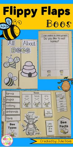 Interactive lapbook for activities on bees – Wanderlust Science Resources, Science Lessons, Teaching Resources, Life Science, Art Lessons, Bee Activities, Kindergarten Activities, Sequencing Activities, Bee Life Cycle